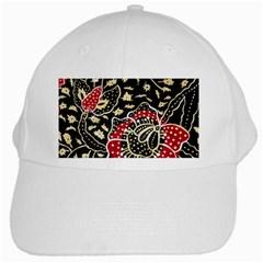 Art Batik Pattern White Cap