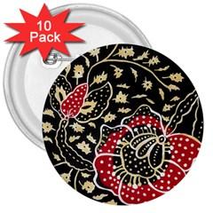 Art Batik Pattern 3  Buttons (10 Pack)