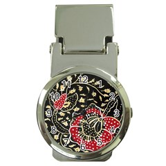 Art Batik Pattern Money Clip Watches