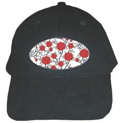 Texture Roses Flowers Black Cap