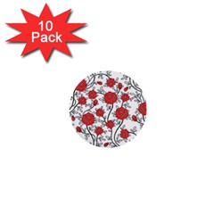 Texture Roses Flowers 1  Mini Buttons (10 Pack)
