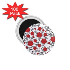 Texture Roses Flowers 1 75  Magnets (100 Pack)