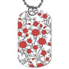 Texture Roses Flowers Dog Tag (two Sides)