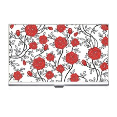 Texture Roses Flowers Business Card Holders