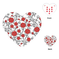Texture Roses Flowers Playing Cards (heart)