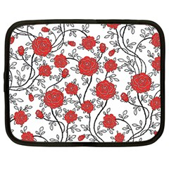 Texture Roses Flowers Netbook Case (large)