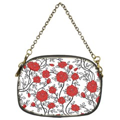 Texture Roses Flowers Chain Purses (two Sides)