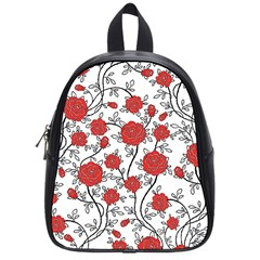 Texture Roses Flowers School Bags (small)