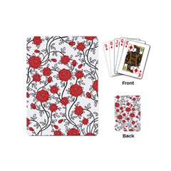 Texture Roses Flowers Playing Cards (mini)