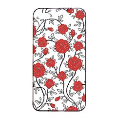 Texture Roses Flowers Apple Iphone 4/4s Seamless Case (black)