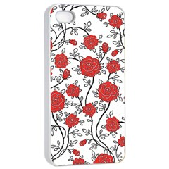 Texture Roses Flowers Apple Iphone 4/4s Seamless Case (white)