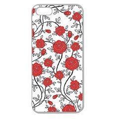 Texture Roses Flowers Apple Seamless Iphone 5 Case (clear)