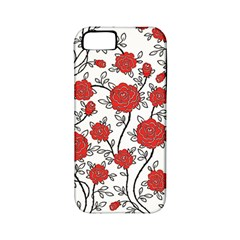 Texture Roses Flowers Apple Iphone 5 Classic Hardshell Case (pc+silicone)
