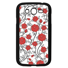 Texture Roses Flowers Samsung Galaxy Grand Duos I9082 Case (black)