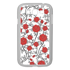 Texture Roses Flowers Samsung Galaxy Grand Duos I9082 Case (white)