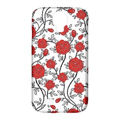 Texture Roses Flowers Samsung Galaxy S4 Classic Hardshell Case (pc+silicone)