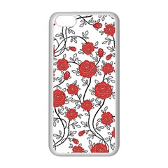 Texture Roses Flowers Apple Iphone 5c Seamless Case (white)