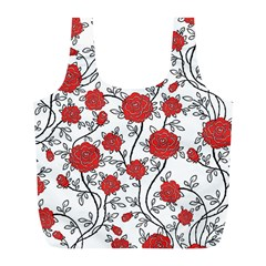 Texture Roses Flowers Full Print Recycle Bags (l)
