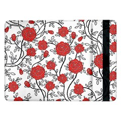 Texture Roses Flowers Samsung Galaxy Tab Pro 12 2  Flip Case