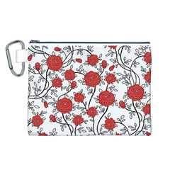 Texture Roses Flowers Canvas Cosmetic Bag (l)