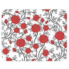 Texture Roses Flowers Double Sided Flano Blanket (medium)