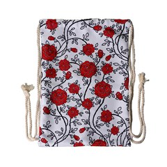 Texture Roses Flowers Drawstring Bag (small)