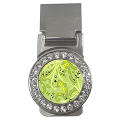Flowers On A Green Background                            Money Clip (cz)