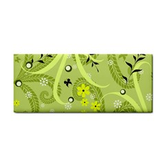 Flowers On A Green Background                            Hand Towel
