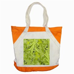 Flowers On A Green Background                            Accent Tote Bag