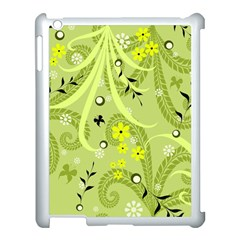 Flowers On A Green Background                      Apple Ipad 3/4 Case (black)