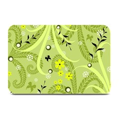 Flowers On A Green Background                           Large Bar Mat