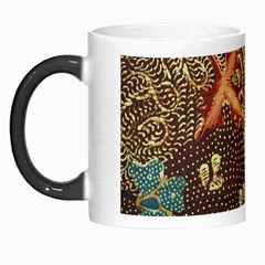 Art Traditional Flower  Batik Pattern Morph Mugs