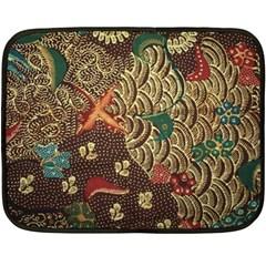 Art Traditional Flower  Batik Pattern Fleece Blanket (mini)