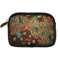 Art Traditional Flower  Batik Pattern Digital Camera Cases