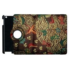 Art Traditional Flower  Batik Pattern Apple Ipad 2 Flip 360 Case