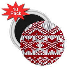 Crimson Knitting Pattern Background Vector 2 25  Magnets (10 Pack)