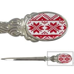 Crimson Knitting Pattern Background Vector Letter Openers