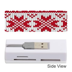 Crimson Knitting Pattern Background Vector Memory Card Reader (stick)