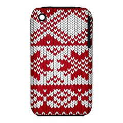 Crimson Knitting Pattern Background Vector Iphone 3s/3gs