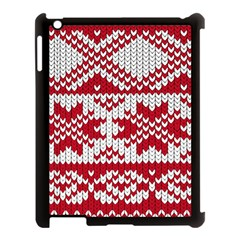 Crimson Knitting Pattern Background Vector Apple Ipad 3/4 Case (black)