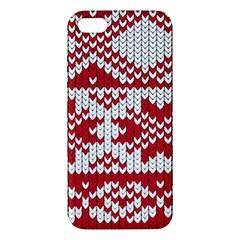 Crimson Knitting Pattern Background Vector Apple Iphone 5 Premium Hardshell Case