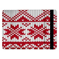 Crimson Knitting Pattern Background Vector Samsung Galaxy Tab Pro 12 2  Flip Case