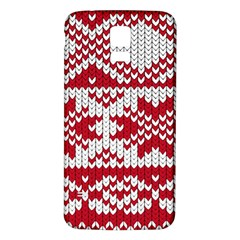 Crimson Knitting Pattern Background Vector Samsung Galaxy S5 Back Case (white)