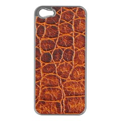 Crocodile Skin Texture Apple Iphone 5 Case (silver)
