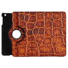 Crocodile Skin Texture Apple Ipad Mini Flip 360 Case