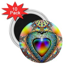 Rainbow Fractal 2 25  Magnets (10 Pack)