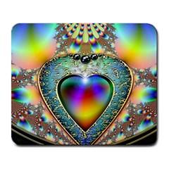 Rainbow Fractal Large Mousepads