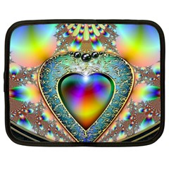 Rainbow Fractal Netbook Case (xl)