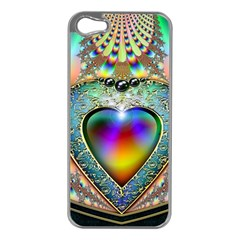 Rainbow Fractal Apple Iphone 5 Case (silver)