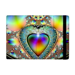 Rainbow Fractal Apple Ipad Mini Flip Case